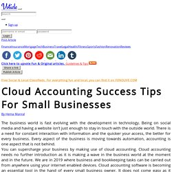 Cloud accounting success tips for small businesses