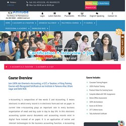 E-Accounting, e-Taxation, e-Filing GST Training Course, classes online in Yamuna vihar Uttam nagar Delhi