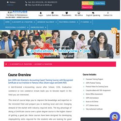 e-Accounting Expert Training Courses Yamuna Vihar Uttam Nagar Delhi