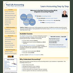 Real Life Accounting - Learn Accounting Step by Step - Online & E-book Tutorials Teaching Basic Accounting