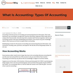 What Is Accounting: Types Of Accounting - Accountwizy.com