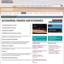 counting, Finance and Economics