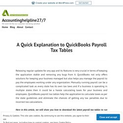 Guide to update and install QuickBooks payroll tax tables