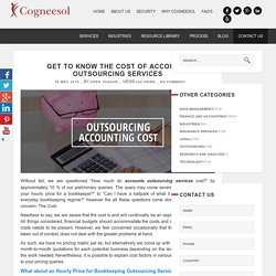 Get to Know the Cost of Accounts Outsourcing Services
