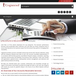 Accounts Receivable Services by Cogneesol – Save Upto 60%