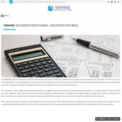 WINHMS - Accounts Payable / Accounts Receivable Software