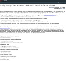 Get Accounting Software Solutions for Small Business