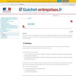 ACCRE – Guichet Entreprises