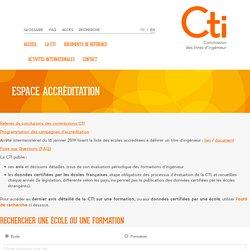 Espace accréditation – CTI – Commission des Titres d'Ingénieur