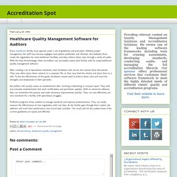 Healthcare Quality Management Software for Auditors
