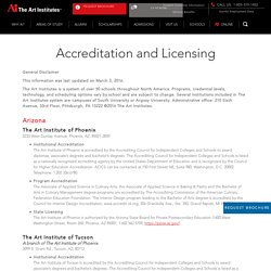 Accreditation & Licensing