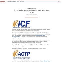 Accreditation with International Coach Federati... - The MMS Institute - Quora