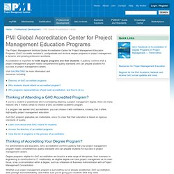 GAC Accredited Degree Programs