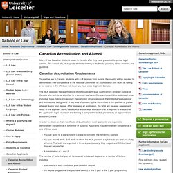 Canadian Accreditation and Alumni