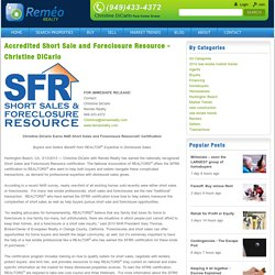 Accredited Short Sale and Foreclosure Resource - Christine DiCarlo