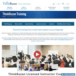 Become an Accredited Mind Mapping Trainer with ThinkBuzan