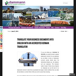 Translate your Business Documents into English with an Accredited German Translator