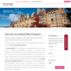 Distance Learning and Short term MBA Course in Abu Dhabi