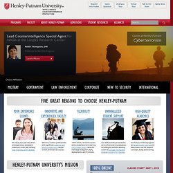Accredited Online University, Counter Terrorism Training - Henley-Putnam University