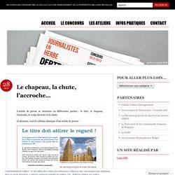 "Concours ""Journalistes en herbe"" 2012-2013"