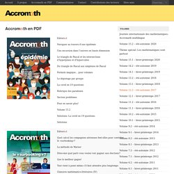 Accrom\(\alpha\)th en PDF