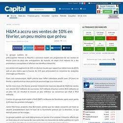 H&M a accru ses ventes de 10% en février, un peu moins que prévu