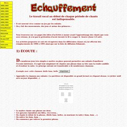 Echauffement musical