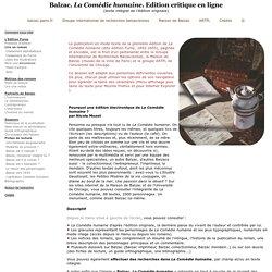 Bibliothèque numérique Balzac