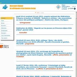 Observatoire régional de la délinquance et des contextes sociaux (PACA)