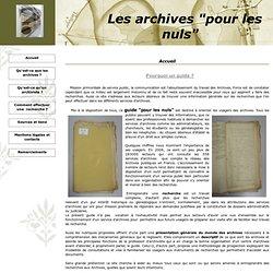 """Les archives """"pour les nuls"""""""