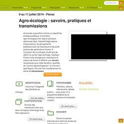 SavoirsAgroEcologiques : Accueil