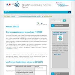 Accueil TRAAM - Travaux académiques mutualisés (TRAAM) - DANE Nice
