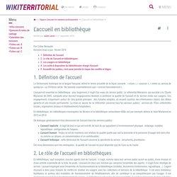 L'accueil en bibliothèque (vitrine.L'accueil en bibliothèque) - XWiki