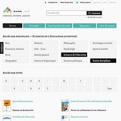 RUB. SITE + RSS CAIRN.INFO : Revues en Sciencesdel'éducation
