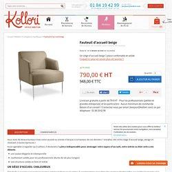 Siège d'accueil beige - chauffeuse 1 place pour bureaux - Kollori.com