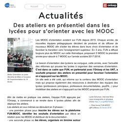 Accueil du site consacré aux MOOC d'orientation