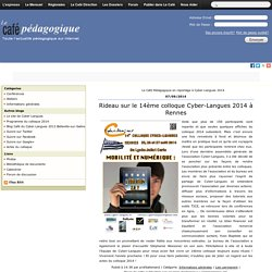Accueil - Cyber-Langues 2014
