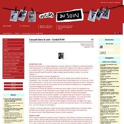 L'accueil dans le soin - Cordel N°44 - Les outils du soin