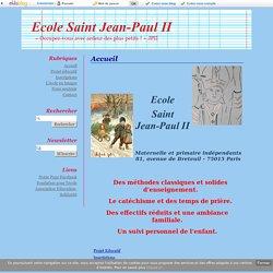 Accueil - Ecole Saint Jean-Paul II