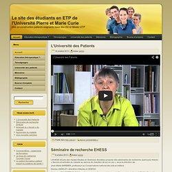 Le site des étudiants en ETP de l'Université Pierre et Marie Curie