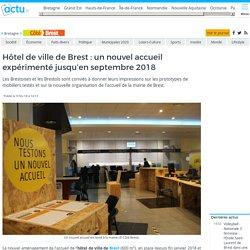 Hôtel de ville de Brest : un nouvel accueil expérimenté jusqu'en septembre 2018