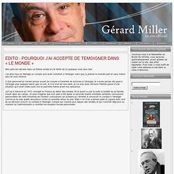 Accueil - Gérard Miller – Site officiel