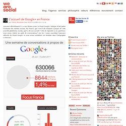 L'accueil de Google+ en France