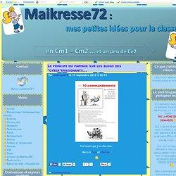 Blog Maikresse72 - CM1-CM2