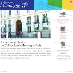 Lycée Montaigne Paris - LYCEE MONTAIGNE PARIS