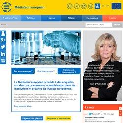 Page d'accueil»Médiateur européen