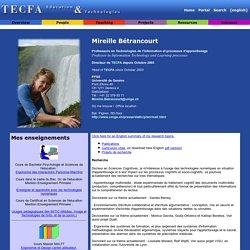 Page d'accueil de Mireille Betrancourt