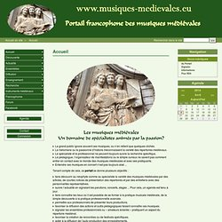 Accueil - PORTAIL DES MUSIQUES MEDIEVALES