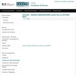 Accueil - Réseau Observatoire Local de la Lecture - ROLL