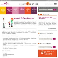 Accueil Enfant/Parents